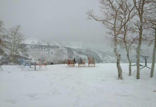 powder snow coming down at Canyons. close to an inch so far at Cloud Dine