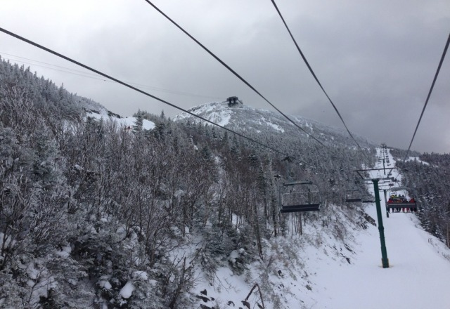 Good day today, lift lines were long by 10:30 but tapered off after lunch. skiing was good, trees were good.  The temp difference between the top and bottom of the mountain was pretty extreme. Tomorrow will be even warmer and probably more crowded, but the snow was good and everything is open so can't complain.