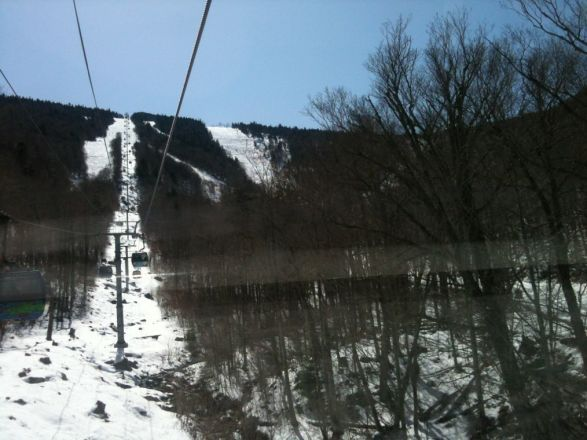 awesome spring skiing. 40 trails including the canyon. better get here fast ot warm & melting.