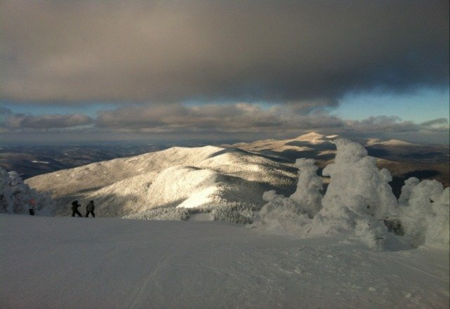 Top of Mt. Ellen. Tues. Jan 1 2013.  very uncrowded, 3