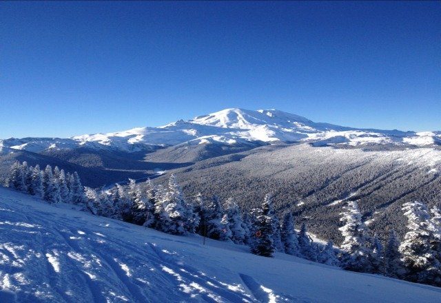 sunny day, packed pow, great way to end 2012!