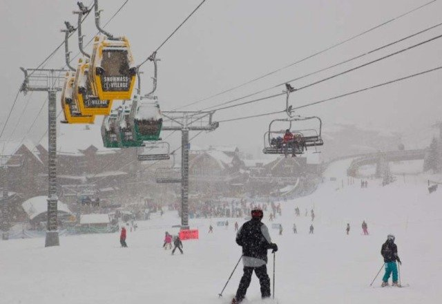Great powder today! I never skied in any better conditions.