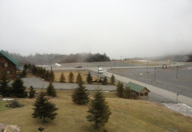 foggy but no snow yet..