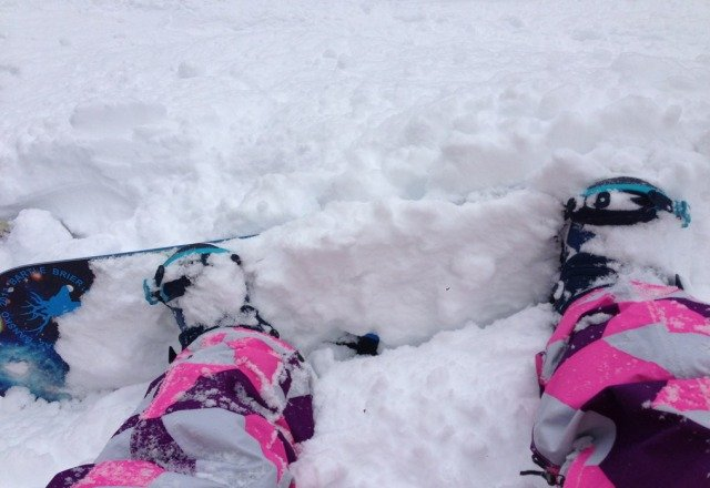 snowin this morning till about 2 very cold but powder was mint :) home time for me now