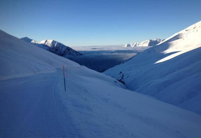 E' proprio cosi', 2000 metri sopra il cielo... ah neve fantastica e piste perfette