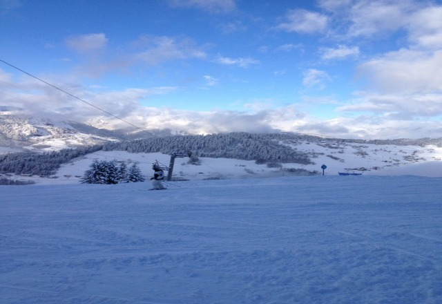 fantastic day on the mountain snowing on and off all day