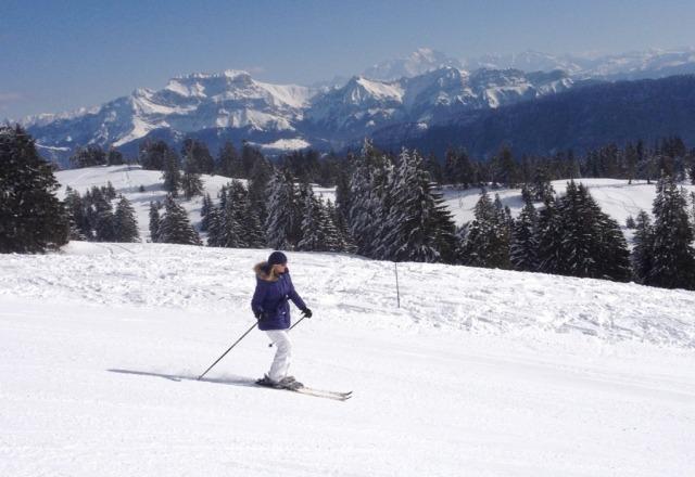 Another day in Paradise avec en toile de fond le Mt-Blanc et la Tournette