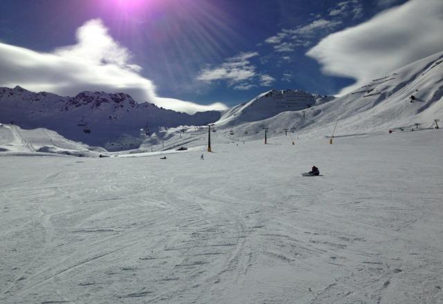 neve perfetta e giornata stupenda