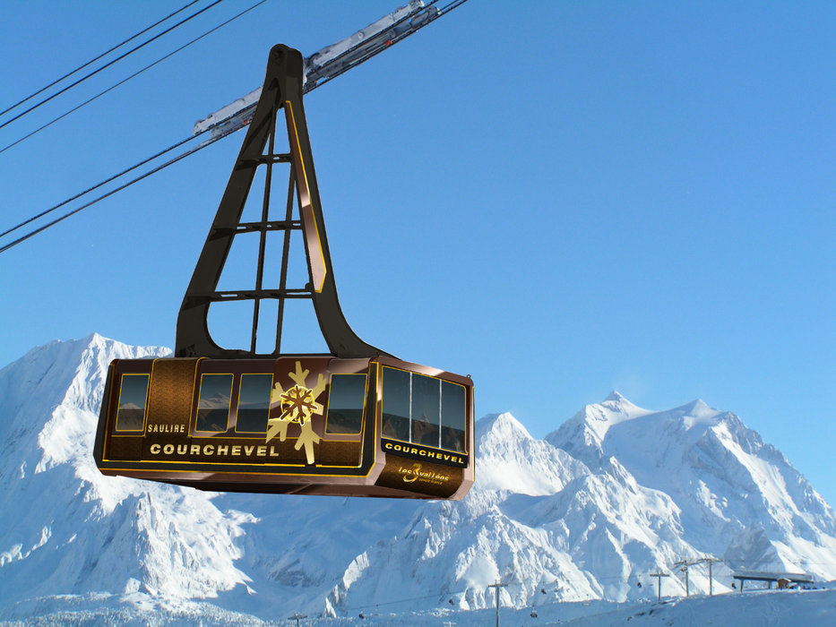 The cable car takes you to the summit of La Saulire, the highest point in Courchevel - © Courchevel