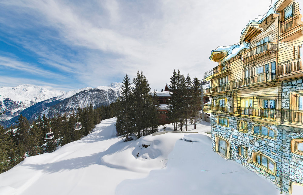 Het nieuwe Oetker Collection Hotel l'Apogée Courchevel - © Courchevel