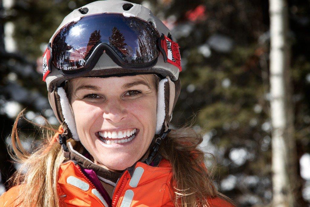 Megan Brown Brent: Two-time NCAA All-American, 2000 Skiercross World Champ, ski model - © Liam Doran