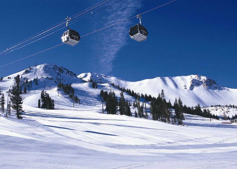 Gondolas at Mammoth Mountain, California