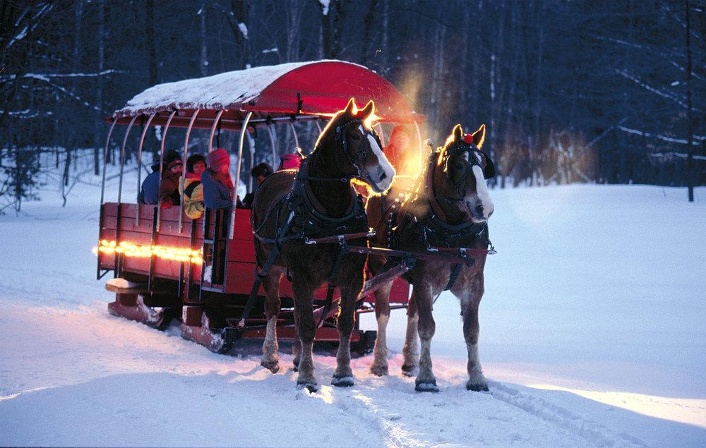A sleigh ride around Crystal Mountain, Michigan