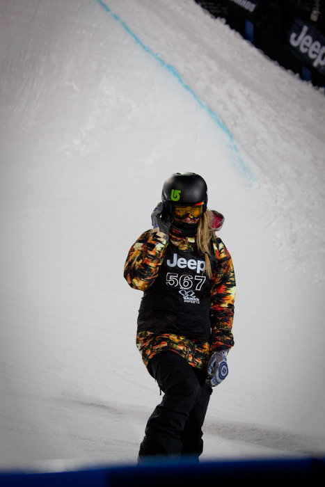 Hannah Teter came in 3rd place at the women's skiing Superpipe finals. Photo by Sasha Coben