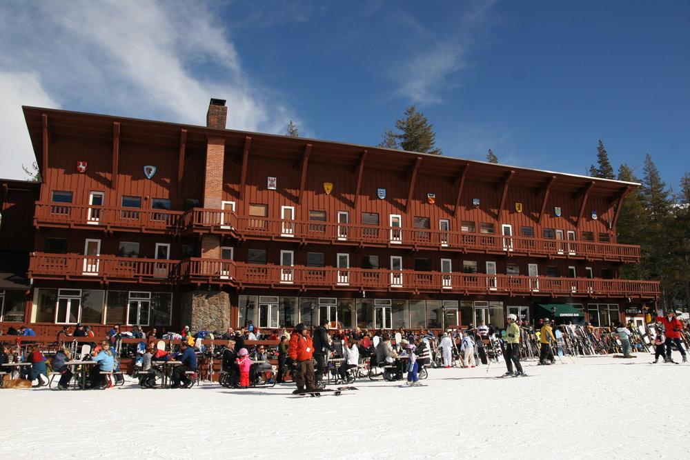 A view of the resort at Sugar Bowl Ski Resort, California