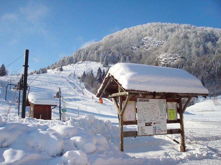 Sur les pistes de ski de Bussang - Larcenaire - © Office de tourisme des Ballons des Hautes-Vosges