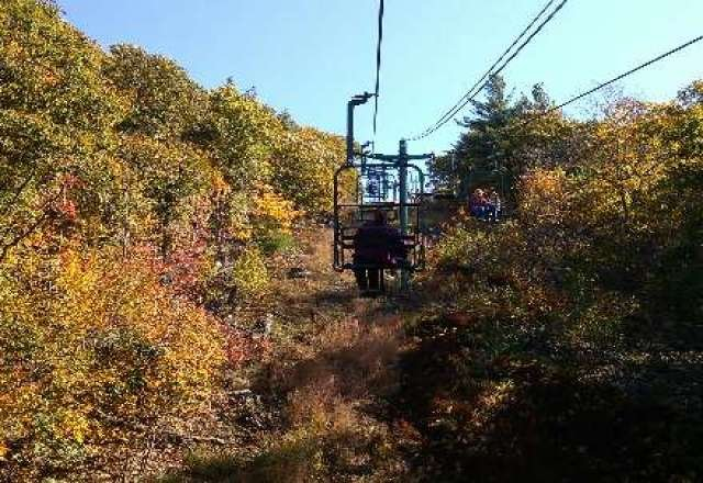 Great to see the lifts running at Blue Hills, foliage today, snow tomorrow.