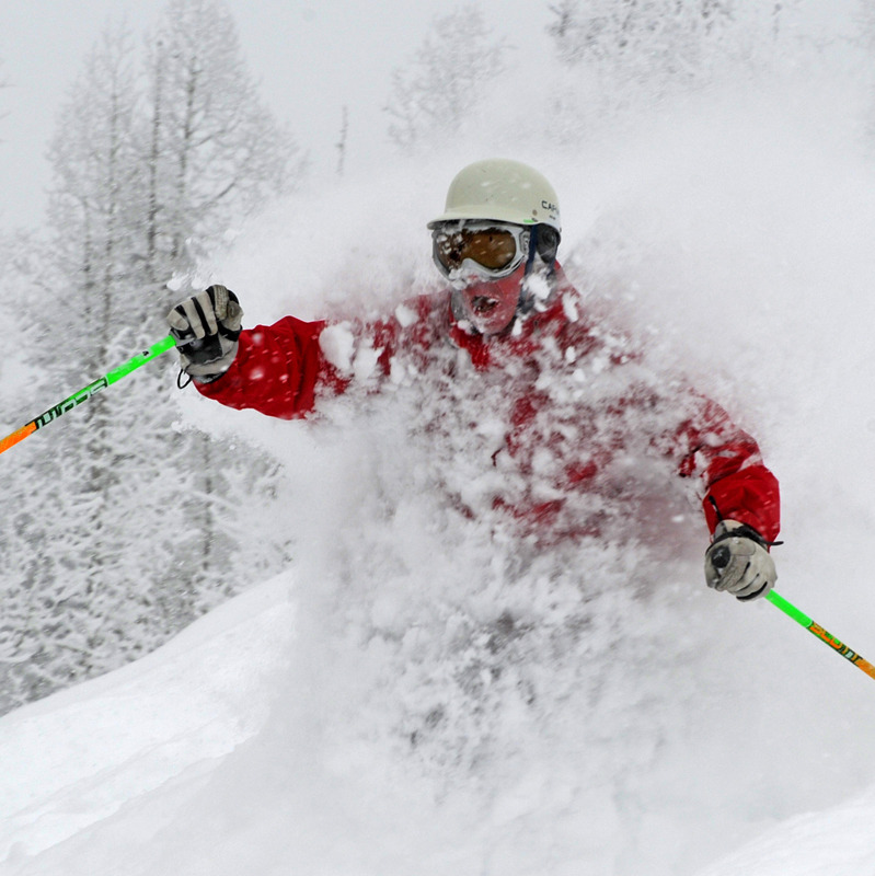 Champagne powder day at Steamboat, Colorado. Photo by Larry Pierce courtesy Steamboat
