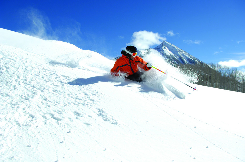 Laying down fresh tracks at Crested Butte Mountain Resort. - ©Courtesy of Crested Butte Mountain Resort.