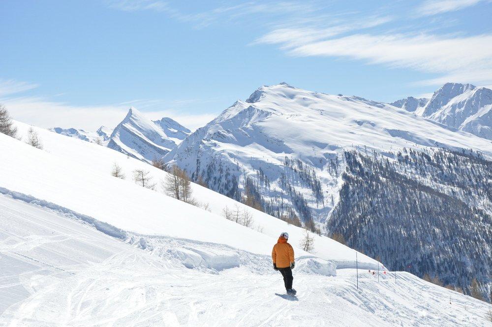Sur les pistes de ski d'Abriès - © A Grossan / Office de tourisme du Queyras