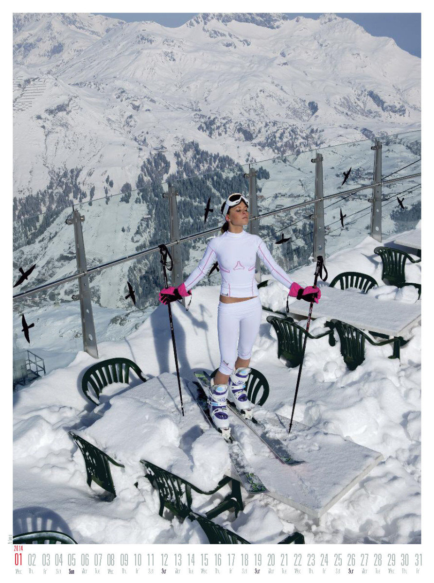 Ms January 2014 - Female Ski Instructor Calendar - © Hubertus Hohenlohe/www.skiinstructors.at