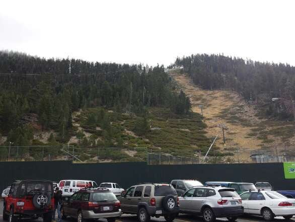 two days ago before the recent snow fall. completely bare on the gondola side.