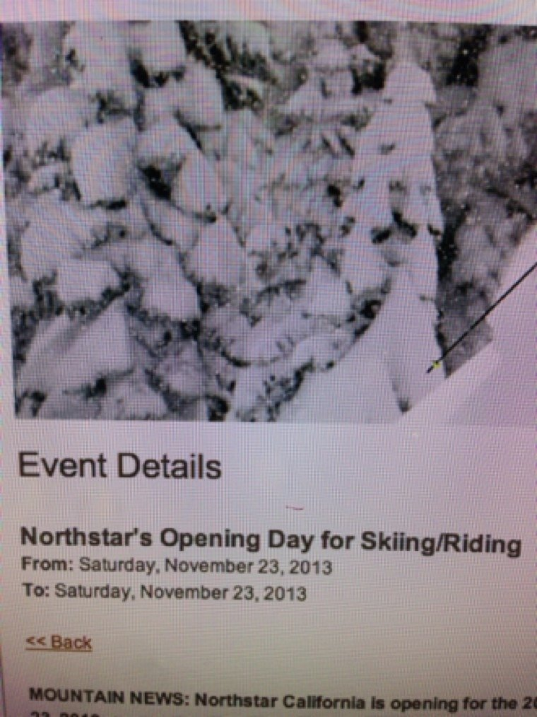 Northstar opens tomorrow!