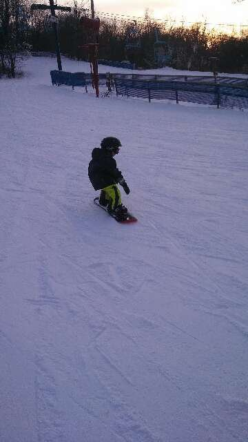 good day teaching my 5yr old son to board