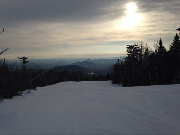 Great day for skiing! No lines and every trail is groomed no ice