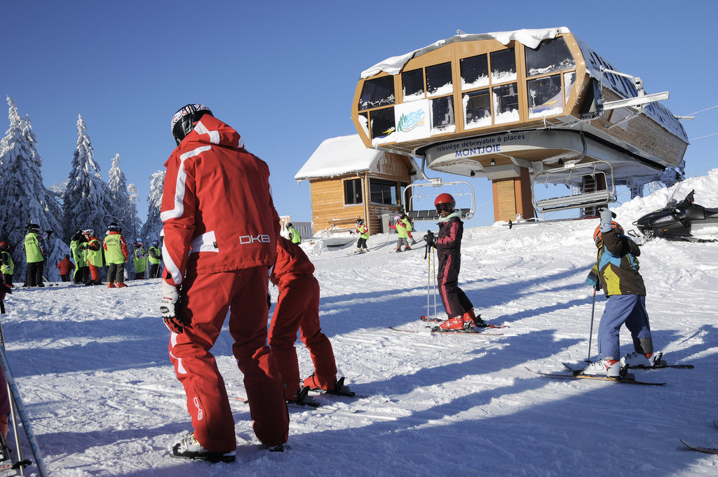 Cours de ski enfant au Lac Blanc - © OT Vallée de Kaysersberg