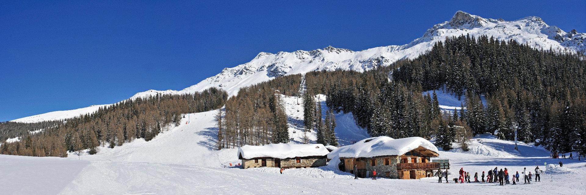Le domaine skiable de Sainte Foy Tarentaise (ici secteur de Plan Bois) - © P. ROYER / OT de Sainte Foy Tarentaise