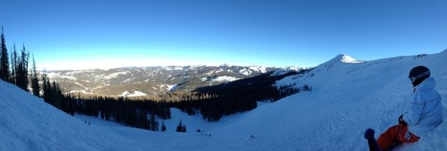 Just spent 2 days at wolf creek!  Love comin up here every year. Amazing snow.  View from the top!
