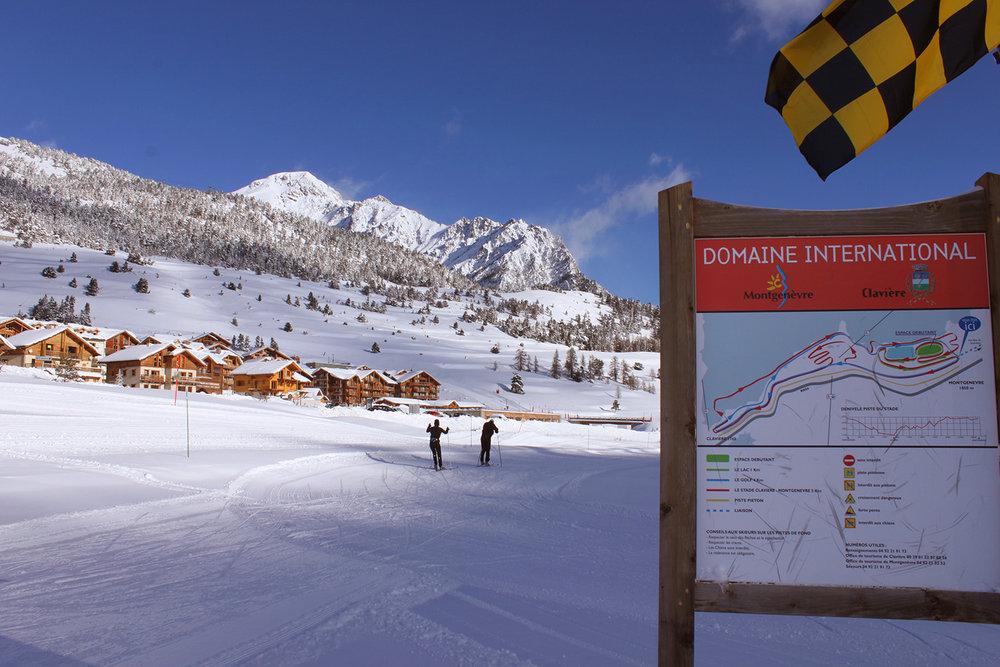 Départ du domaine de ski nordique de Montgenèvre - © Cyril Charlot / OT Montgenèvre