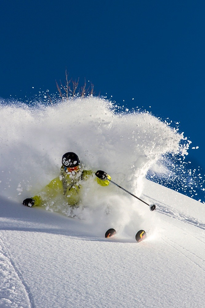 Alta is for skiers...skiers like Max Kuszaj. Photo by Liam Doran