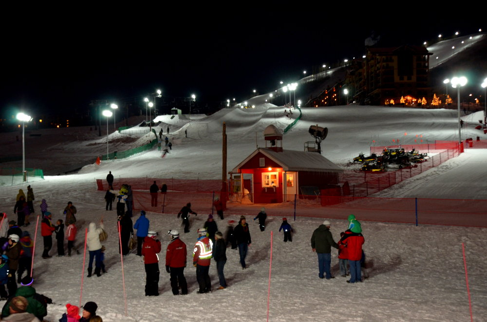 Night skiing starts at Steamboat, Dec. 20, 2013. - © Photos courtesy Shannon Lukens.