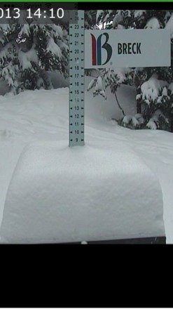 """8"""" so far and still coming down! Gonna be an awesome day for the opening of peak 6!"""