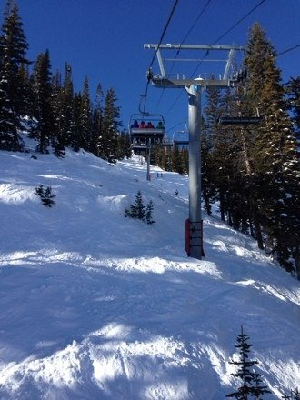 Awesome day! Snow was sweet, bluebird day, and killer JH mountain as always