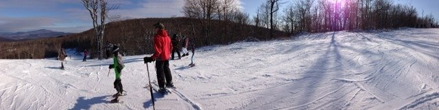 The snow was good on some runs but a little icy. It was slightly crowded but overall a good day!