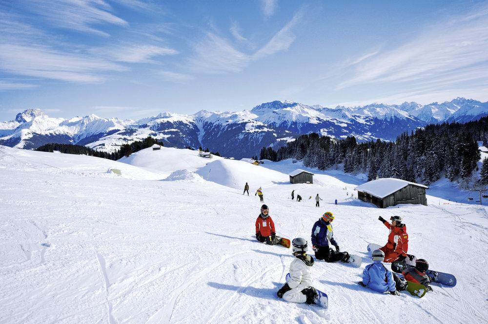 Snowboardunterricht in Grüsch-Danusa - © Foto: gruesch-danusa.ch / Joh. Bärtsch ziitla.ch