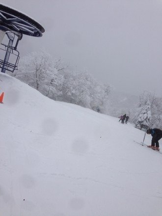 It was great skiing conditions
