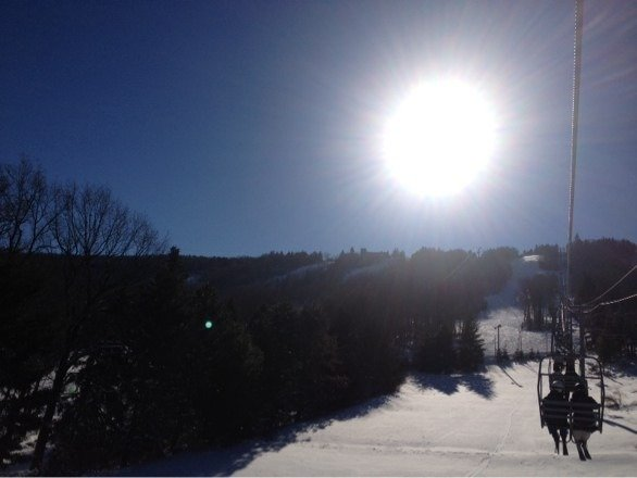 Great day at CBK! Busy of course, but good snow, sun, no wind. Good skiing for PA!