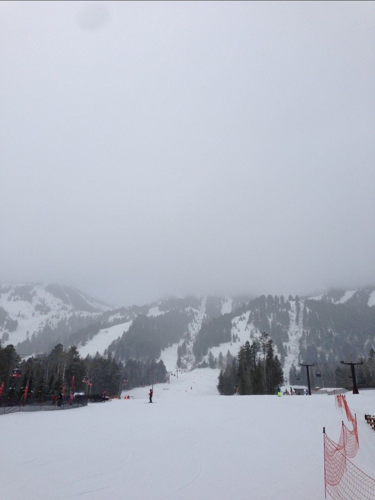 booyea! snow a bit packed in. but pretty fun so far.