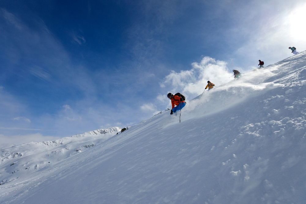 Tiefschneekenntnisse sind auf der Skisafari erforderlich - © © Christian Perret