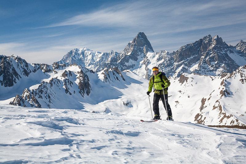 Skitouren mit gipfel mont fourchon walliser alpen