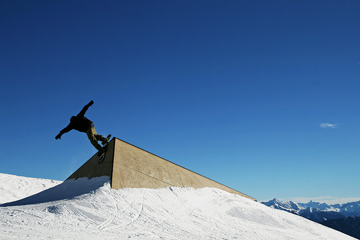 Snowpark Laax - Pyramida - © Stefan Drexl