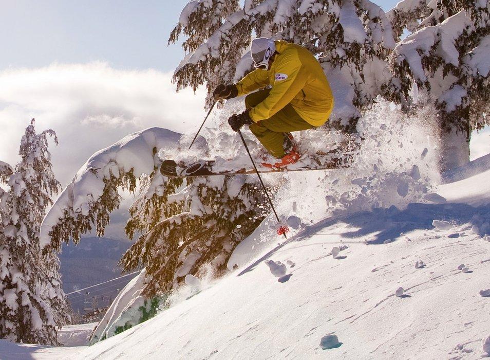 Pro Skier Asit Rathod at Timberline Lodge. - © Timberline Lodge