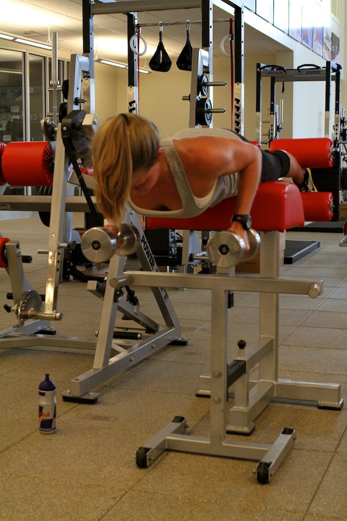 Grete Pre Season - Back Extension with DB row