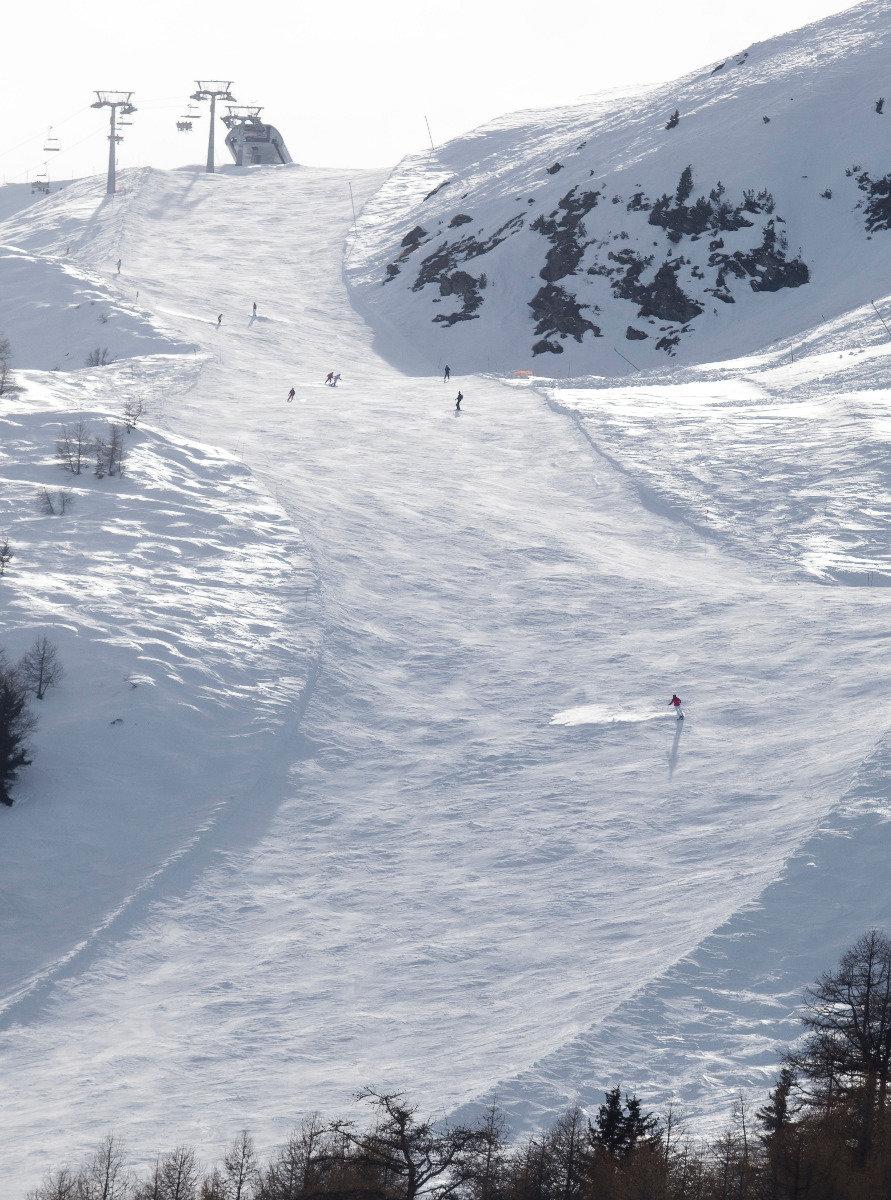 Sur les pistes de ski de Thyon - © Thyon-Région Tourisme