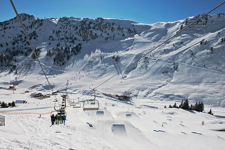 Der Blick auf den Nordhang des Penken - bei frischem Tiefschnee ein Genuss zum Freeriden - © Mayrhofner Bergbahnen