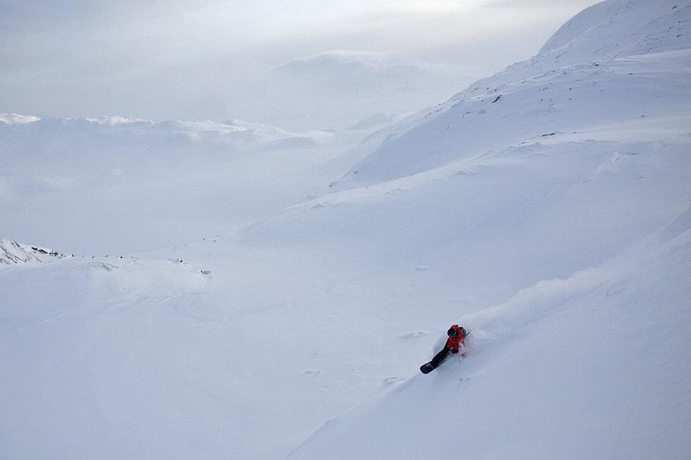 Det er definitivt nok snø i Hemsedal nå. - © Kalle Hägglund
